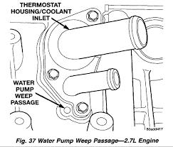 similiar 02 chrysler sebring 2 7 water pump replacing keywords 2002 chrysler 300m fuel pump as well dodge charger 2 7 timing marks