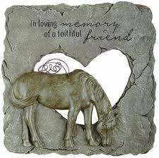 loss of horse memorial stone