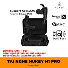 Tai nghe true wireless HUKEY H1 không dây hoàn toàn - true 3D sound- Super  bass-đập chết PAMU slide, scroll, funcl AI, Giá tháng 4/2021