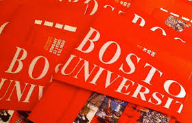 boston university admissions blog acirc boston university boston university pennants at a high school