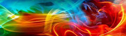 abstract art banner with colorful smoke