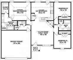 3 bedroom 2 bath house plans. Exclusive Design 3 Bedroom House Plans One Level 1 653788 2 Bath