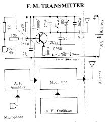 transmitter circuit schematics includding bugging device circuits