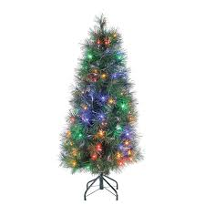 Full Size of Christmas: Battery Operated Pre Lit Led Pine Artificial Christmas  Tree Trees Q ...
