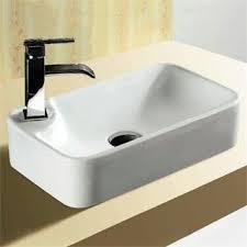 Caracalla by Nameeks CaracallaCA4121 Ceramica 1 Hole Rectangular Vessel Bathroom  Sink in White