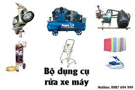 Bộ dụng cụ rửa xe máy tại nhà bao gồm những thiết bị nào?Máy rửa xe chính  hãng
