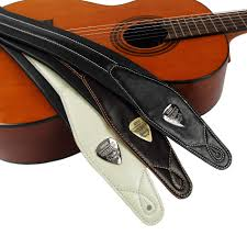 solr high end leather padded guitar strap for
