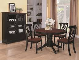 cherry wood dining room table. Interesting Cherry Addison Black And Cherry Wood Dining Table On Room I