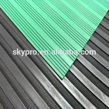 corrugated rubber mat anti slip wide fine thin narrow ribbed corrugated rubber floor mat for work corrugated rubber mat
