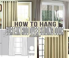 hang curtain rod over sliding door