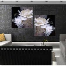 framed art black and white 2 plates contemporary oil painting abstract decorative wall art modern art on framed plates wall art with framed art black and white 2 plates contemporary oil painting