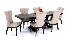 lovely riverdale 7 piece dining set with upholstered chairs bob fine digital imagerie dining room set