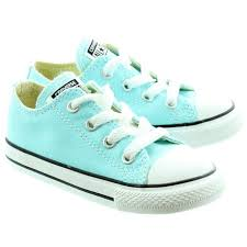 converse for kids. converse canvas all star ox kids shoes in aqua main image for l