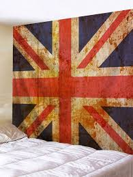 vintage uk flag wall hanging tapestry multicolor w79 inch l59 inch