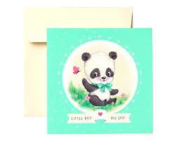 Newborn Congratulation Card Newborn Baby Boy Congratulations Cards Panda New Baby Boy