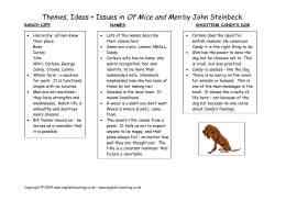 of mice and men essay topics of mice and men themes issues and ideas