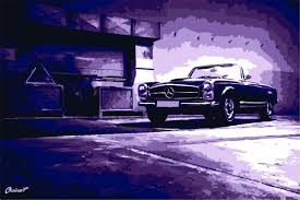 Their spanish poster was pretty much the same. Mercedes Benz Poster Ozcinart Draw To Drive