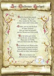 Geschenk Goldene Hochzeit Urkunde Gedicht Präsent Jubiläum Meine