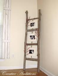 diy living room decor ideas diy rustic photo ladder cool modern rustic and