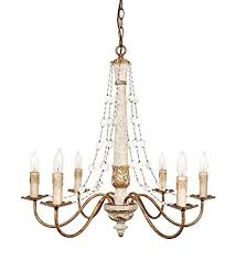 colette french country wood crystal chandelier in gold