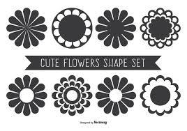 かわいい盛り合わせ花の形イラストfree Download商業用ポスター 背景