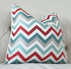 red and teal pillows. Perfect Red That Pillow For The Couchlove Modern Turquoise Aqua Teal Red Grey  Jacquard Zig Zag Pillow  Chevron Throw Designer With And Pillows I