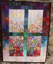Art Quilt Garden Window Quilted Fabric Wall Hanging by TahoeQuilts ... & 7 Cats Hiding in the Garden of My Heart Watercolor Impressionist ART Quilt  Wallhanging Adamdwight.com