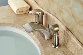 deck mount waterfall tub faucet luxury led light widespread waterfall bathtub tub mixer taps deck mount