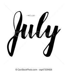 July Lettering Print Summer Illustration
