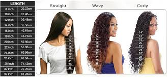 Hair Length Chart Weave Straight Hair Length Chart Full Lace Wigs Lace Front Wigs 360
