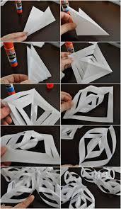 3d Schneeflocken Aus Papier Basteln Anleitung