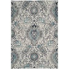 safavieh madison abbey cream light gray indoor lodge area rug common 4 x
