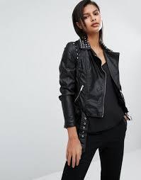 vero moda studded leather look biker jacket black women jackets vero moda london vero moda dresses