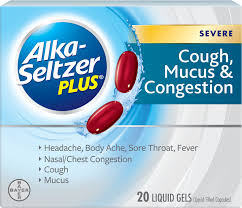 Medication For Cough Mucus Congestion Alka Seltzer Plus