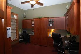 Desks for home office Contemporary Home Office Double Desk Office With Wallbed In Shoreview Twin Cities Closet Company Home Office Built Ins Desks And Storage Twin Cities Closet Company