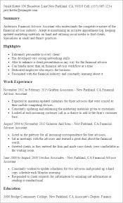 Resume Templates: Financial Advisor Assistant