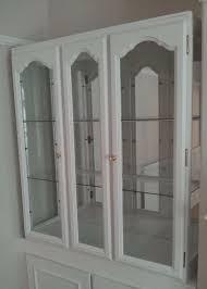 white display cabinet glass doorirror back