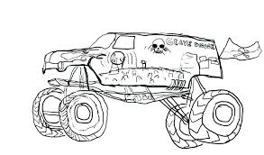 Printable Monster Truck Printable Monster Truck Coloring Pages Free