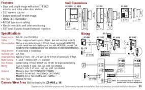 aiphone kc 1grd master station with video monitor online Generator Connection Diagram kc series stations & accessories, features, and wiring diagram