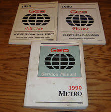 electrical in brochures catalogs 1990 geo metro shop service manual supplement electrical diagnosis lot of 3