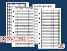 Checkbook Registers To Print Printed Personal Size Checkbook Register Style Inserts