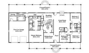1 ranch house plan first floor plans more