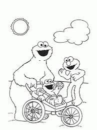 Cookie Monster Coloring Page Bookmontenegro Me Within At Cookie