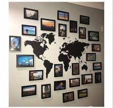 wall collage travel living rooms 50