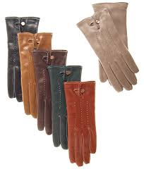 women s italian cashmere lined leather dress gloves