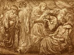 macbeth act scene macbeth finds out lady macbeth is dead the death of lady macbeth painting by rossetti from the gallery of shakespeare illustrations