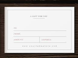 Photography Gift Certificate Template Photography Gift Certificate Template Photographer Card Laurel