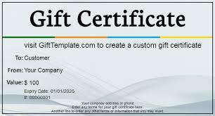Custom Gift Certificate Templates Free Gift Certificate Template Valentines Free Cover Letter