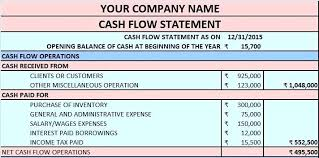 balance sheet income statement cash flow template excel cash flow template in excel