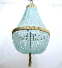 blue sea glass chandelier diy celeste empire nuggets au courant interiors chandeliers french rattan coastal living dining inspired contemporary unique room
